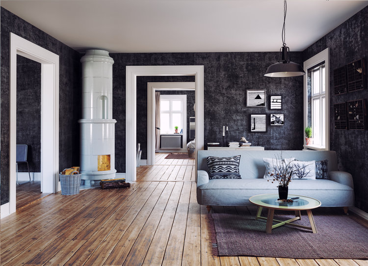 The Modern interior LIVING ROOM