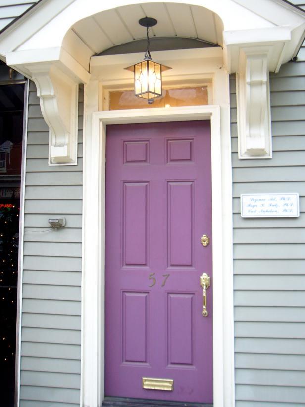 front door color trends purple